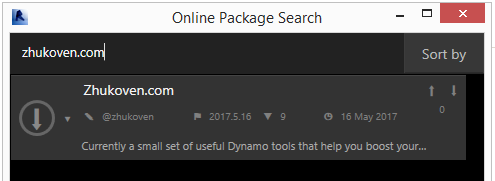 Dynamo online package search