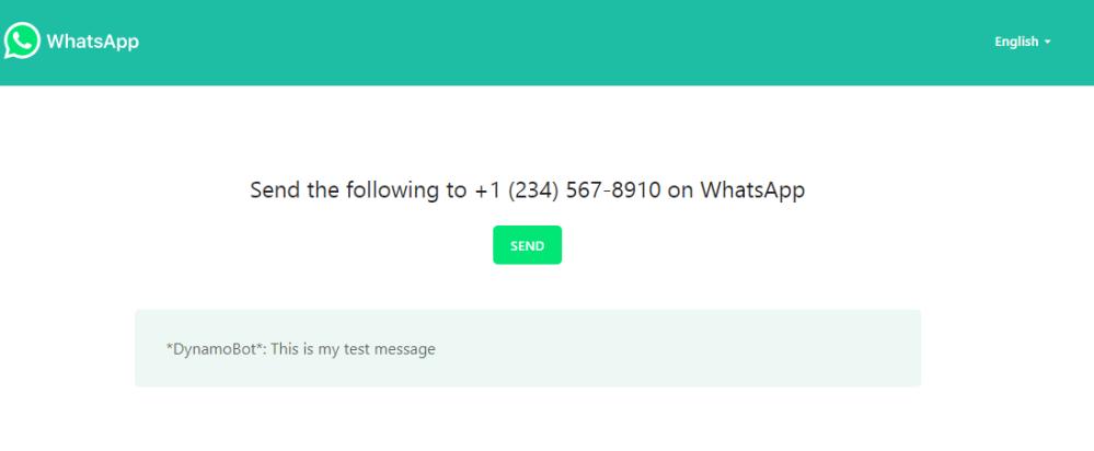 Whatsapp Send Message Web