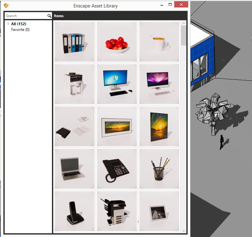 Enscape3D Asset library